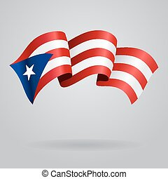 Puerto Rican waving Flag. Vector illustration - Hungarian ...