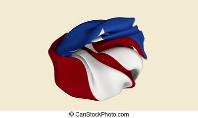 Puerto Rico Flag. Puerto Rico Banner. Caribbean Flags. Celebration. Flag Day. Patriots. Realistic Animation 4K. Surface Texture. Background Fabric.