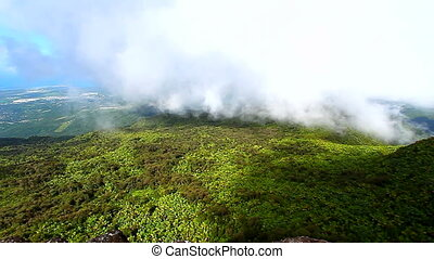 Puerto Rico El Yunque Forest - View of Puerto Rico from the...