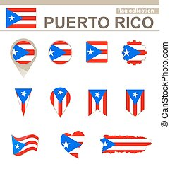 Puerto Rico Flag Collection, 12 versions