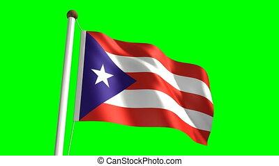 Puerto Rico flag video (seamless & green screen)