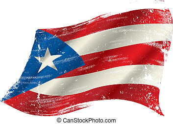 Puerto rico grunge flag - A grunge Puerto rican flag in the...