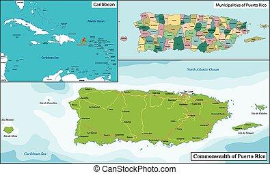 puerto rico-landkarte