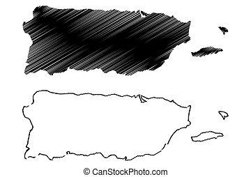 Puerto Rico map vector