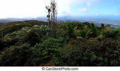 Puerto Rico landscape from El Yunque Peak in the El Yunque National Forest.