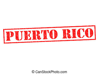 PUERTO RICO Rubber Stamp over a white background.