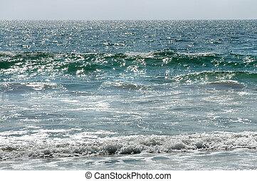 puerto, vagues, escondido, mexique