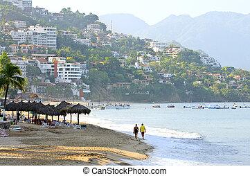 puerto vallarta, sandstrand, mexiko