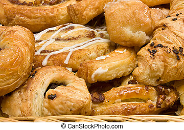 Puff Pastries - background close up image of French and...
