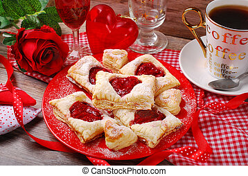 puff pastry cookies for valentine party