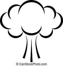 Puff smoke cloud icon - Puff smoke cloud vector icon