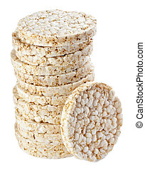 puffed rice snack vegetarian food - close up of a puffed ...