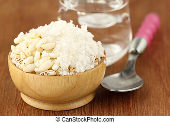 Puffed rice with coconut