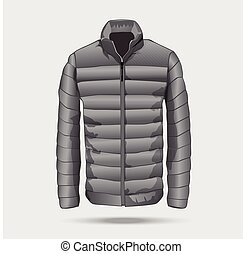 Puffer bomber jacket template.