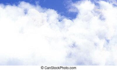 Puffy Clouds Flight Through