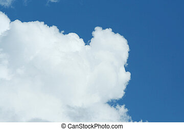 Puffy white cloud