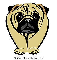 Pug Breed Clipart