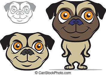 Pug Cartoon Mascot