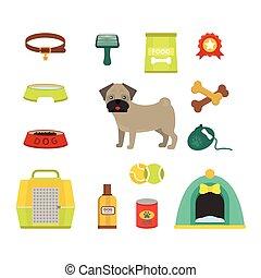 Pug dog symbols