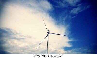 puissance, énergie, turbines, propre, alternative, fournir,...