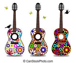 puissance fleur, guitares
