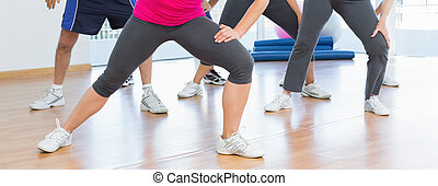 puissance, gens, section, bas, exercice forme physique