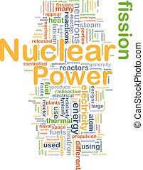 puissance nucléaire, fond, concept