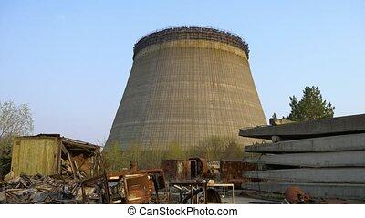 puissance, nucléaire, refroidissement, station, tour, chernobyl