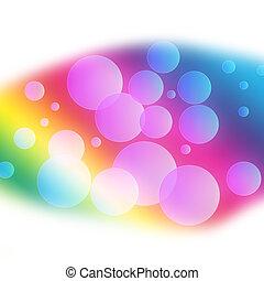 puissant, résumé, bulle, fond