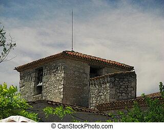 Pujols, village, church