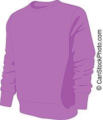 pulóver, púrpura, vector, aislado, no, ilustración,...