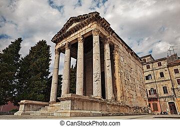 Pula, Istria, Croatia: the Roman Temple of Augustus - Pula,...