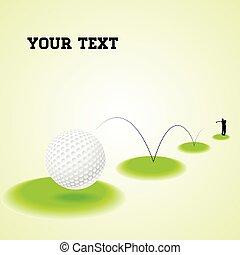 pular, bola golfe