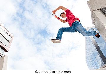 pular, homem jovem