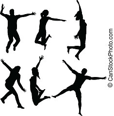 pular, pessoas