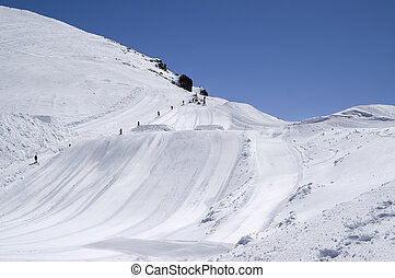 pular, tábua esqui