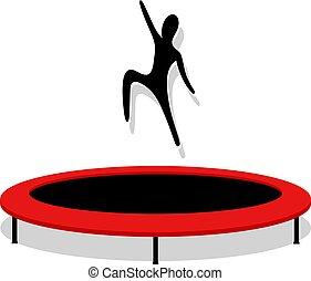 pular, trampoline