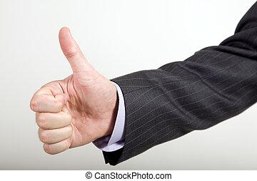 pulgares arriba, ofertas, empresa / negocio, hombre