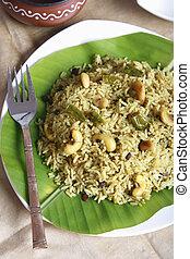 puli, sadam, tamilnadu, plato, basado, arroz
