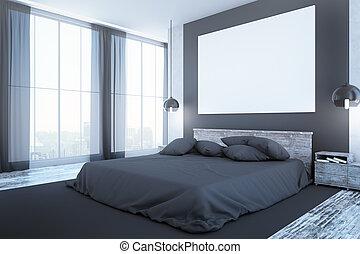 pulito, camera letto, interno