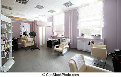 pulito, europeo, salone capelli