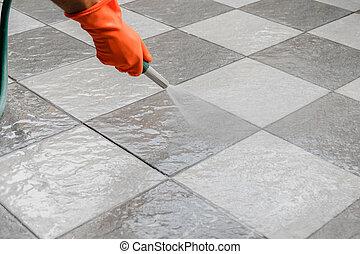 pulito, pavimento