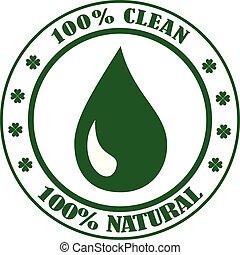 pulito, prodotto, simbolo, francobollo