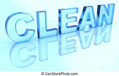 pulito, segno, cristallo