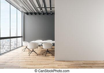 pulito, ufficio, con, copyspace