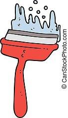 pulitore, finestra, cartone animato