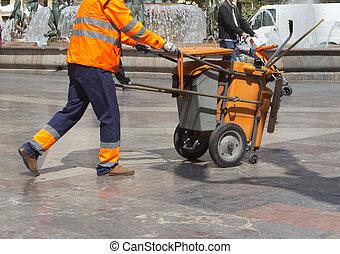 pulitore, strada