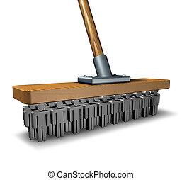 pulizia, affari