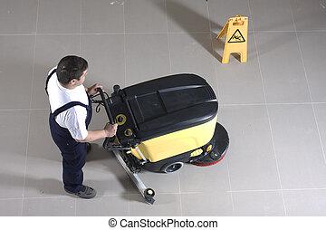 pulizia, macchina