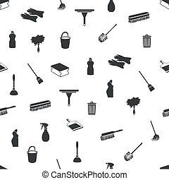 pulizia, seamless, icone